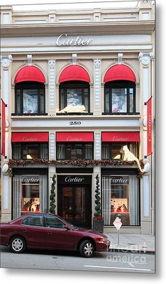 San Francisco Cartier Storefront - 5d20567 Metal Print by Wingsdomain Art and Photography