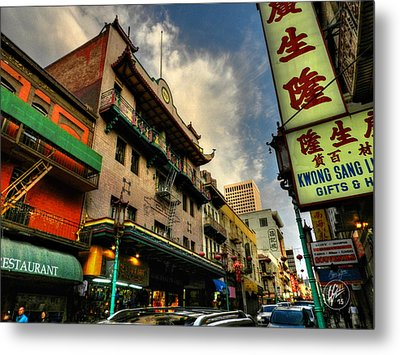 San Francisco - Chinatown 004 Metal Print by Lance Vaughn