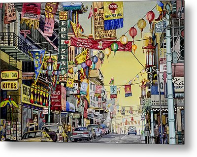 San Francisco Chinatown Metal Print