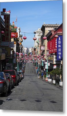 San Francisco Chinatown Metal Print by Christopher Winkler