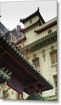 San Francisco Chinatown Dragon Gate Metal Print by SFPhotoStore