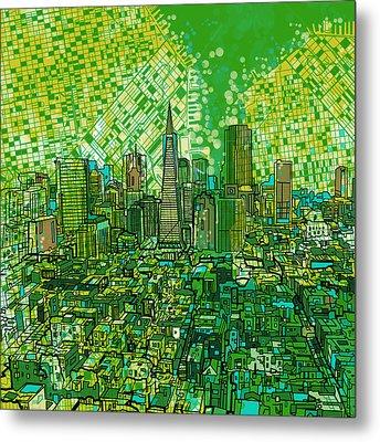 San Francisco Cityscape 3 Metal Print