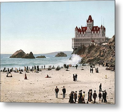 San Francisco Cliff House 1902 Metal Print