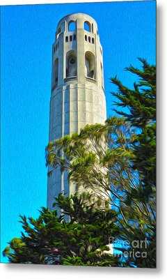 San Francisco - Coit Tower - 01 Metal Print by Gregory Dyer