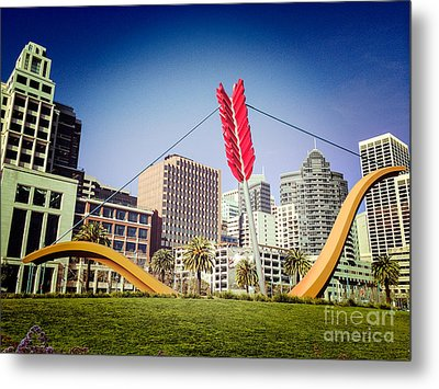 San Francisco Cupid's Span Metal Print by Colin and Linda McKie
