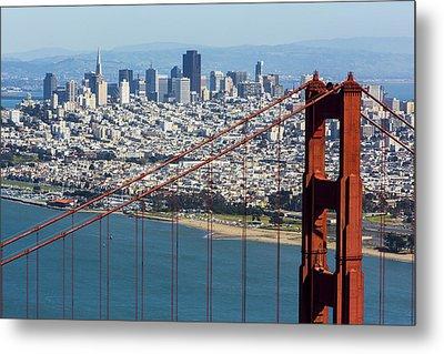 San Francisco Metal Print by Dave Cleaveland