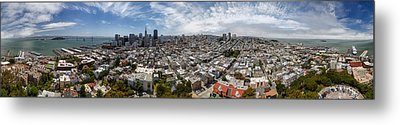 San Francisco Daytime Panoramic Metal Print by Adam Romanowicz