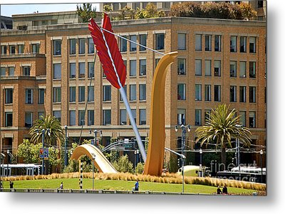 San Francisco Embarcadero Metal Print by YJ Kostal