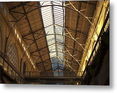 San Francisco Ferry Building Interior Metal Print by SFPhotoStore