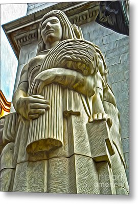 San Francisco - Financial District Statue - 04 Metal Print by Gregory Dyer
