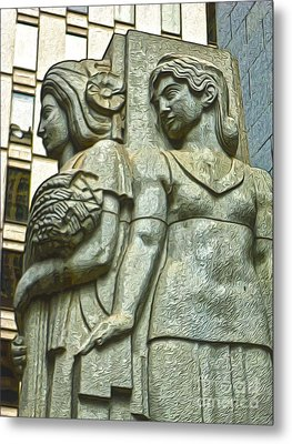 San Francisco - Financial District Statue - 05 Metal Print by Gregory Dyer