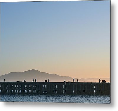San Francisco Fishing Dock Metal Print