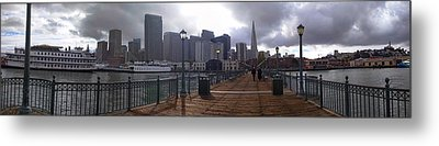 San Francisco From Pier Metal Print by Haleh Mahbod
