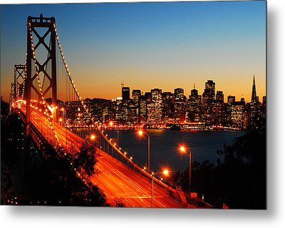 Metal Print featuring the photograph The City By The Bay by James Kirkikis