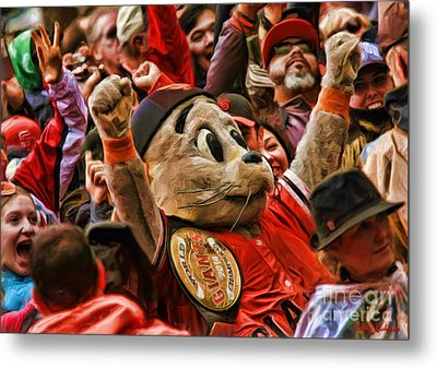 San Francisco Giants Mascot Lou Seal Metal Print