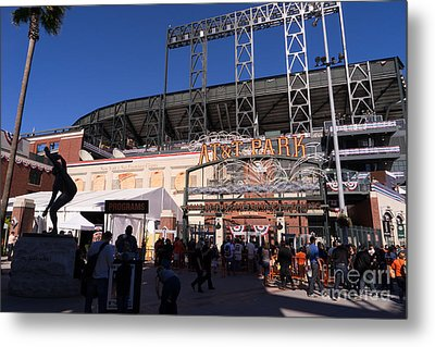San Francisco Giants World Series Baseball At Att Park Dsc1896 Metal Print by Wingsdomain Art and Photography