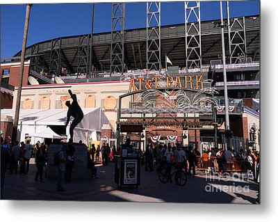 San Francisco Giants World Series Baseball At Att Park Dsc1899 Metal Print by Wingsdomain Art and Photography