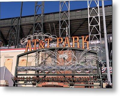 San Francisco Giants World Series Baseball At Att Park Dsc1901 Metal Print by Wingsdomain Art and Photography