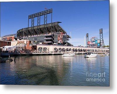 San Francisco Giants World Series Baseball At Att Park Dsc1906 Metal Print by Wingsdomain Art and Photography
