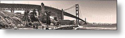 San Francisco - Golden Gate Bridge - 06 Metal Print by Gregory Dyer