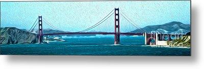 San Francisco - Golden Gate Bridge - 07 Metal Print by Gregory Dyer