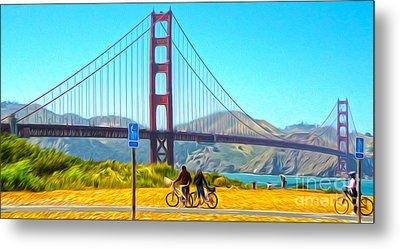 San Francisco - Golden Gate Bridge - 13 Metal Print by Gregory Dyer