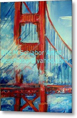 San Francisco Golden Gate Bridge  Metal Print by Eric  Schiabor