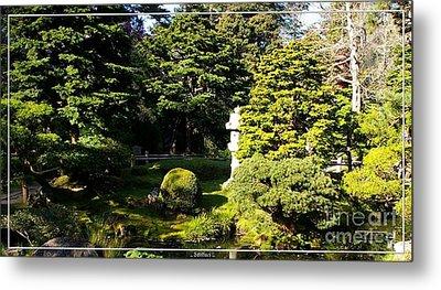 San Francisco Golden Gate Park Japanese Tea Garden 1 Metal Print by Robert Santuci