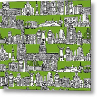 San Francisco Green Metal Print