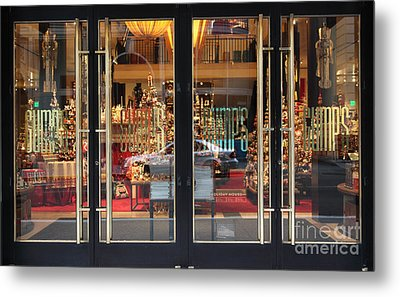 San Francisco Gumps Store Doors - 5d20585 Metal Print by Wingsdomain Art and Photography