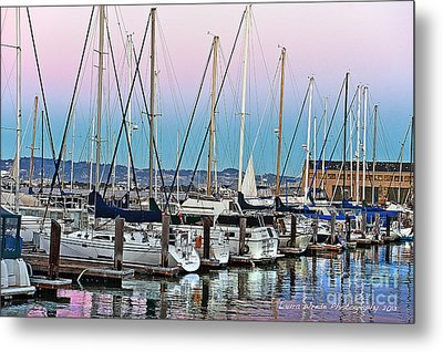 San Francisco Harbor At Pier 39 Metal Print by Artist and Photographer Laura Wrede