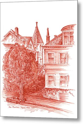 San Francisco Jackson Street Metal Print by Irina Sztukowski