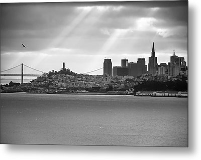 San Francisco Morning Rays Metal Print by Gregory Ballos
