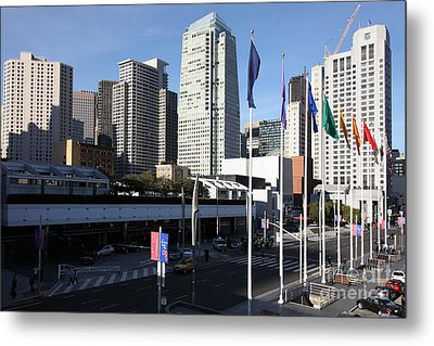 San Francisco Moscone Centerand And Skyline - 5d20504 Metal Print by Wingsdomain Art and Photography