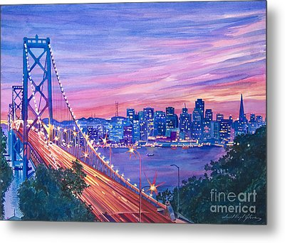 San Francisco Nights Metal Print by David Lloyd Glover