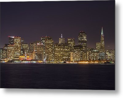San Francisco Nighttime Skyline 1 Metal Print