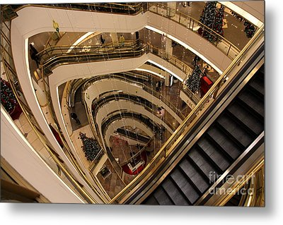 San Francisco Nordstrom Department Store - 5d20639 Metal Print by Wingsdomain Art and Photography