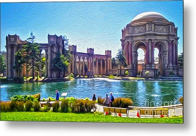 San Francisco - Palace Of Fine Arts - 02 Metal Print by Gregory Dyer