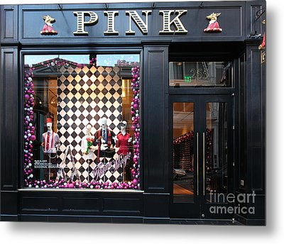 San Francisco Pink Storefront - 5d20565 Metal Print by Wingsdomain Art and Photography