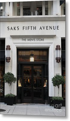 San Francisco Saks Fifth Avenue Store Doors - 5d20574 Metal Print by Wingsdomain Art and Photography