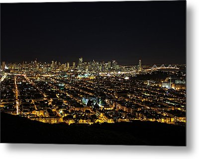 San Francisco Skyline Metal Print by Dave Files