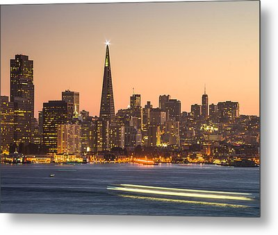 San Francisco Skyline Late Evening Metal Print