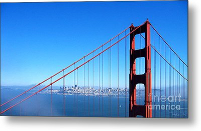 San Francisco - The City With The Golden Gate Metal Print by Pete Edmunds