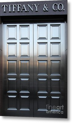 San Francisco Tiffany And Company Store Doors - 5d20561 Metal Print by Wingsdomain Art and Photography