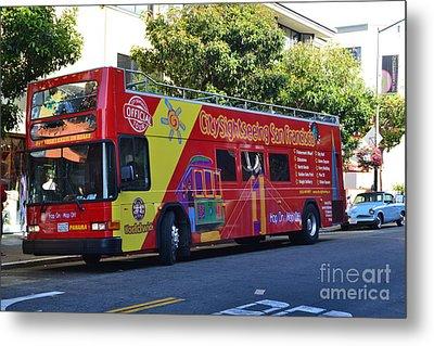 San Francisco Tour Bus Metal Print by Michael Inscoe