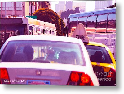 San Francisco Traffic Jam Metal Print