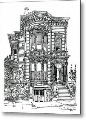 San Francisco Victorian   Metal Print by Ira Shander