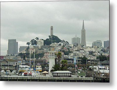 San Francisco View From Fishermans Wharf Metal Print by Suzanne Gaff