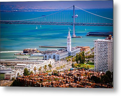 San Francisco Waterfront Metal Print by Celso Diniz