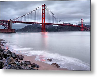 Metal Print featuring the photograph San Francisco's Golden Gate Bridge by Gregory Ballos